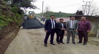Kalkandere Köylerinde Asfaltlama Çalışmaları