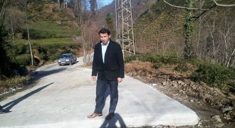 Kalkandere Köylerinde Betonlama Çalışmaları