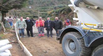 Kalkandere Köylerinde Betonlama