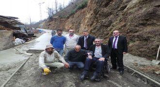 Kalkandere Köyleri Yol Betonlama Çalışmaları