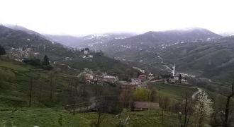 Kalkandere Yokuşlu Köyü ve Kar Yağışı