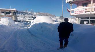 Kalkandere Yolbaşı Köyü Kardan Görünmüyor