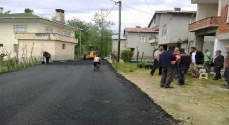 Kalkandere'de Asfaltlama Çalışmaları Sürüyor