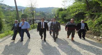 Kalkandere'de Asfaltlama Çalışmaları