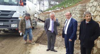 Kalkandere'de Betonlama Çalışmaları