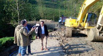 Kalkandere'de Yol Çalışmaları