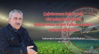 Kalkanderespor Kulübü Başkanı Sezona Doğru