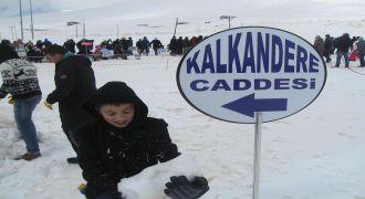Kardan Adam Festivalina Kalkandere'de Katıldı