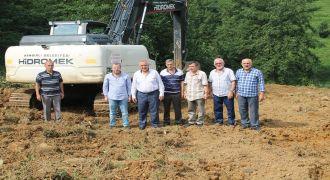 Kendirli'de atıksu arıtma tesisi inşaatı
