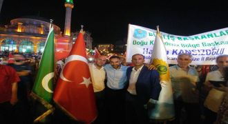 Rize'de Milli İrade İçin Binler Buluştu