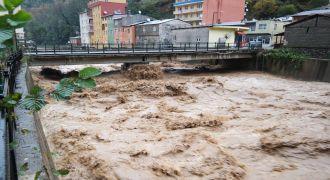 Rize'de Şiddetli Yağmur