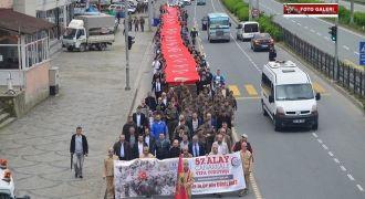 Rize'de Vefa Yürüyüşü Gerçekleştirildi