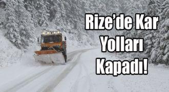 Rize'de Yoğun Kar. 3 İlçede Okullar Tatil.
