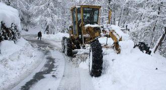 Rize'de Yoğun Kar Yağışı Başladı