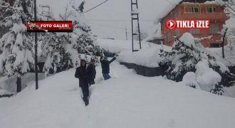 Rize'de Yoğun kar Yağışı
