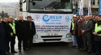 Rize'den Bayır Bucak Türkmenlerine Yardım