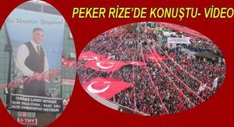 Rizeli İşadamı Sedat Peker Rize'de konuştu.