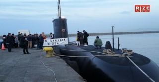 Rize Limanında TCG S- 354 Sakarya Deniz Altı Gemisine Ziyaretçi Akını