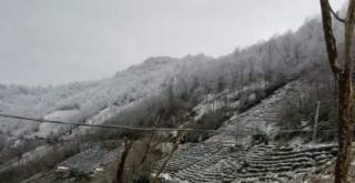Kalkandere'de hafif kar yağışı