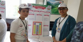 Kalkandere AİHL Okulunda 4006 Bilim Fuarı