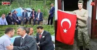 Vali Bektaş,Şehit  Kendirli'de Soner Fazlıoğlu'nun Evini Ziyaret Etti