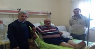 Kalkandere Muhtarlar Derneği Başkanı Hasta Ziyareti